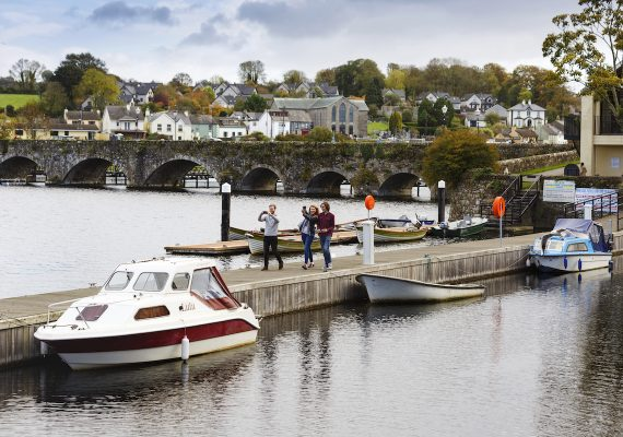Friends on a jetty in Killaloe Ballina