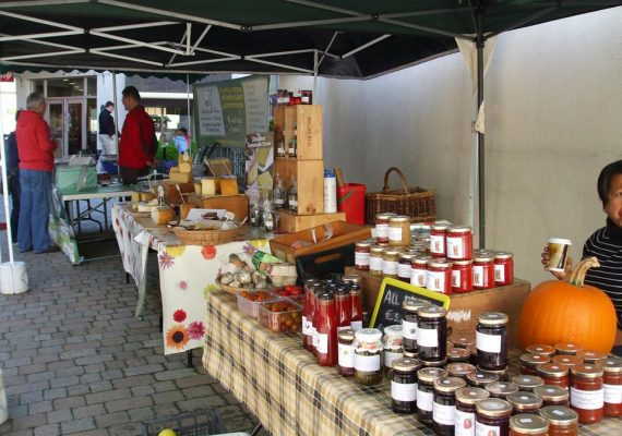 Food for sale at Nenagh farmers' market in Tipperary