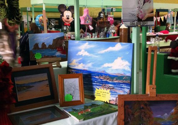 Art at Clonmel farmers' market in Tipperary