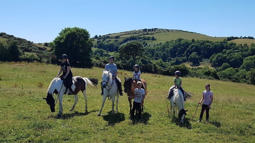 Pony trekking in Tipperary