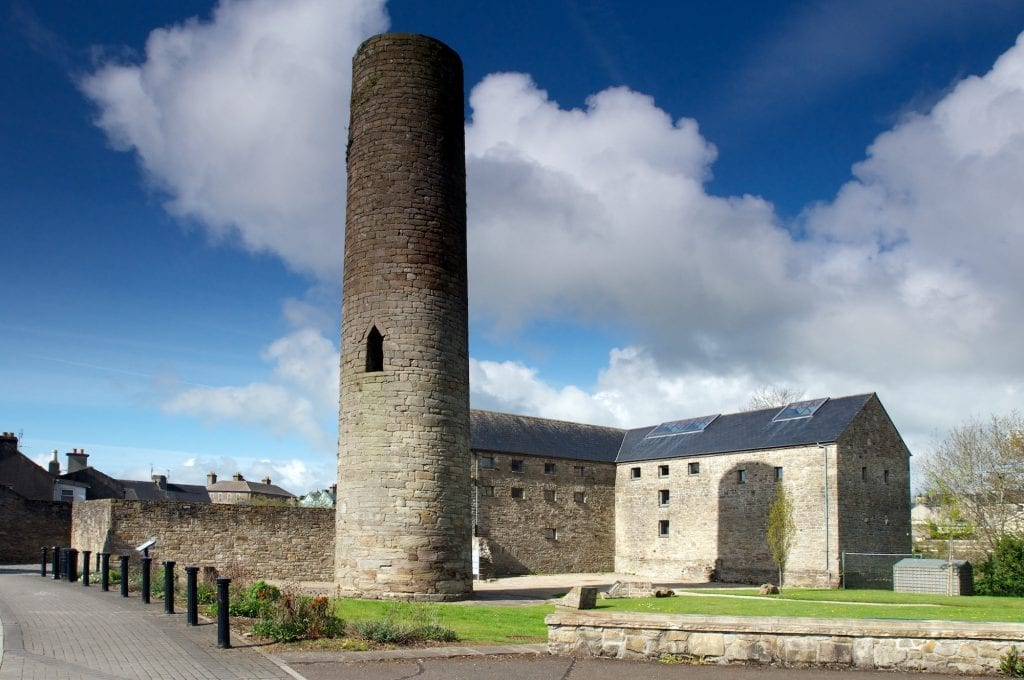 11th-century Black Mills and Tower Roscrea in Roscrea rises to a height of 20 metres