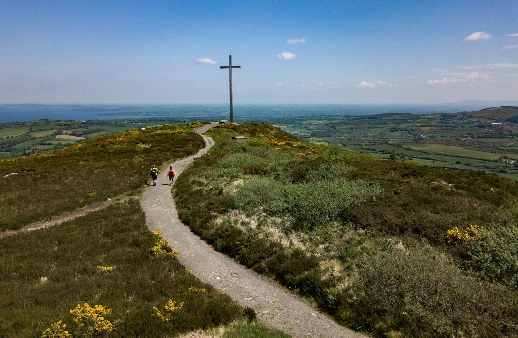 The Millennium Cross in Portroe has views of Lough Derg and beyond