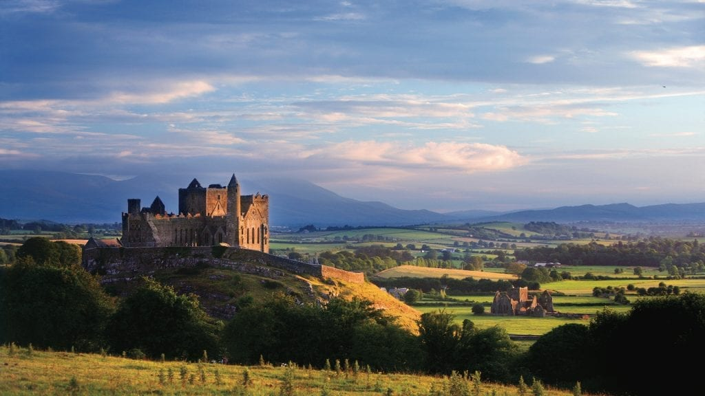 The Rock of Cashel rises out from the fertile Golden vale