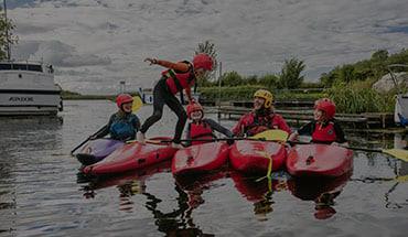 Lough Derg Blueway family kayaking